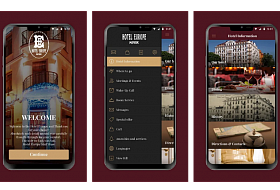 Mobile application of the Hotel Europe